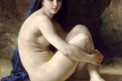 William Adolphe Bouguereau: Baigneuse Accroupie Seated Bather