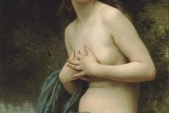 William Adolphe Bouguereau: La Brise Du Printemps Spring Breeze