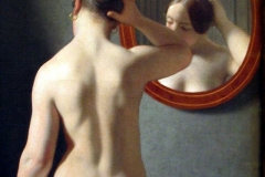 Christoffer Wilhelm Eckersberg: Woman Standing In Front Of A Mirror